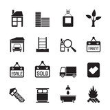 Silhouette Real  Estate and building icons