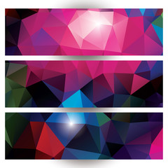 Abstract geometric colorful background, pattern design, banners