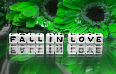 Fall in love green theme