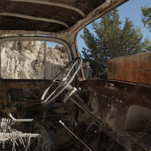 rusty car dashboard