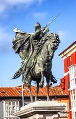 Equestrian statue of El Cid, Burgos, Spain