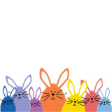 Group of Easter bunnies