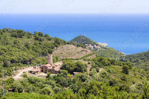 View from the castle of Begur, Catalonia, Spain