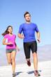 Running sport athlete man sprinting in trail run