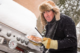 Miserable winter barbequer poster