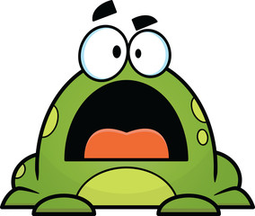 Grumpy Cartoon Frog