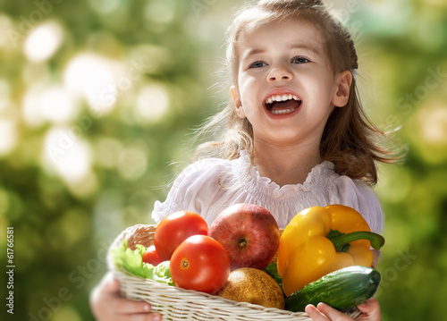 canvas print picture eating healthy food