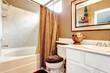 Tropical theme bathroom