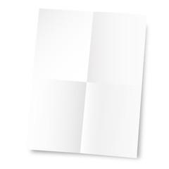 Unfolded paper sheet - Feuille de papier dépliée