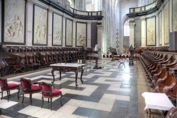 Inside the cathedral  of Saint Bavo