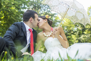 Bride and Groom enjoy the outdoors