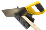 plastic hand saw and angle cut miter box tool