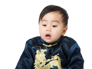 Baby with traditional chinese costume