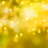 Glittery yellow Christmas background. EPS 10