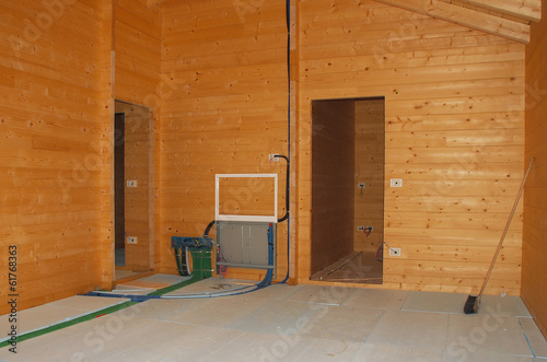 Floor Insulation in New Wooden House