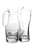 Empty glass pitcher