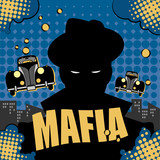 Abstract mafia or gangster background, vector illustration