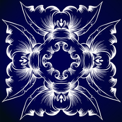 A blue and white pattern