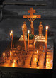 candles and crucifix in church
