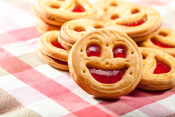 Cookie smile on a table