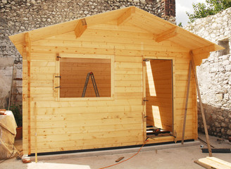 Almost Complete Wooden Cabin