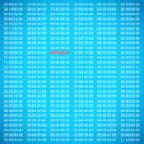 Blue binary computer code