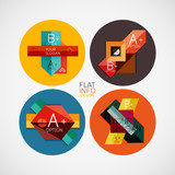 Flat infographic design concept set