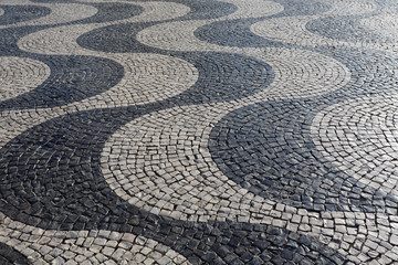 Traditional pavement in Lisbon