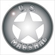 Постер, плакат: US Marshal Badge