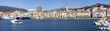 Panorama of Imperia from the sea, Italy