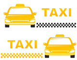 Fototapety business cards with taxi