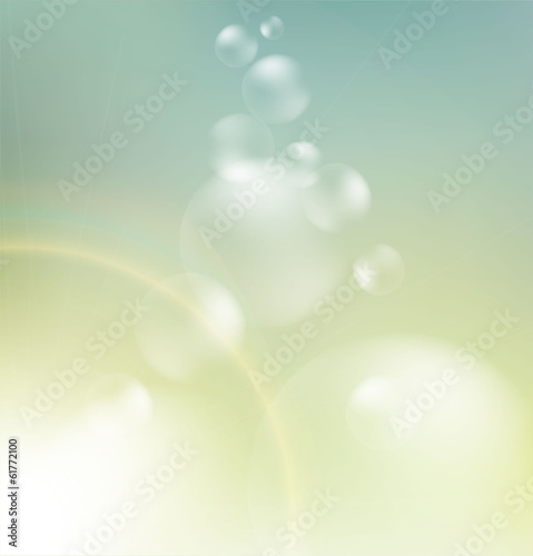 Abstract blue and beige bokeh background