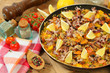Paella and vegetables
