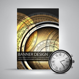 banner design with clocks
