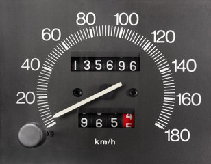 Automobile Analogue Speedometer and Odometer