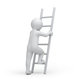 3d human with a ladder