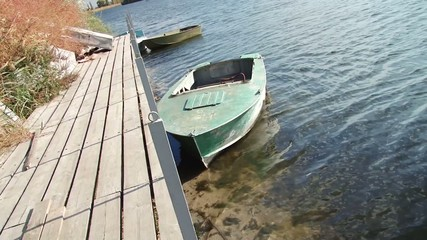 Boat at a river pier