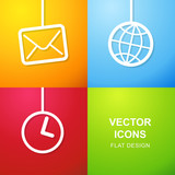 Set of 3 simple icons for web use.