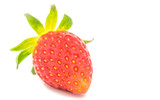 fresh red strawberry isolated on white background
