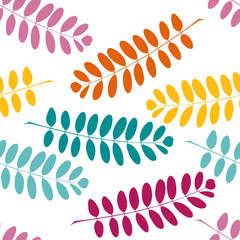 Bright stylish pattern with branches