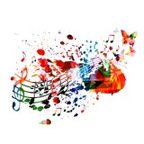 Colorful music background - 61773770
