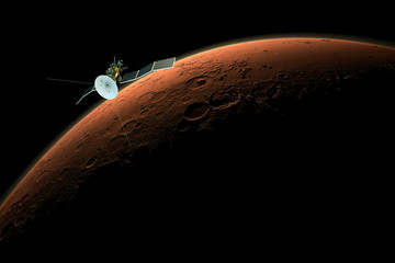 satellite orbiting mars