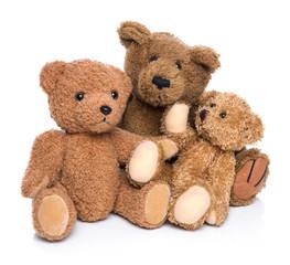 Teddy Bären Familie - isoliert auf Weiß