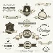Set of vintage elements