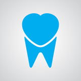 Tooth logo, vector illustration