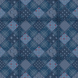 Seamless jeans patchwork pattern