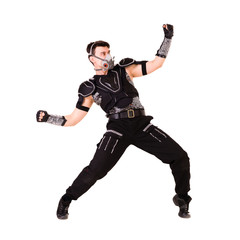 modern soldier dancer showing some movements