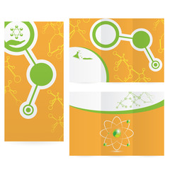 Abstract molecule science background design