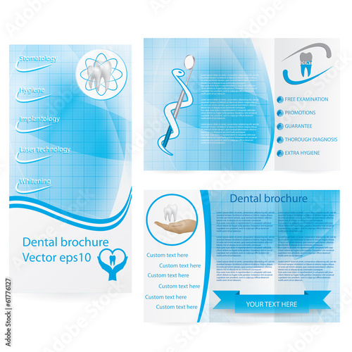 Dental illustration brochure design