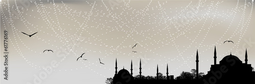 Poster Istanbul silhouette